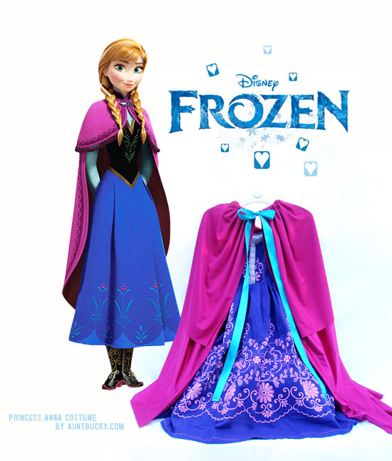 AuntBucky_Frozen_Disney_Cape_Dress