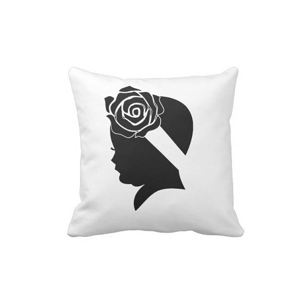 Flower Girl Shadow Pillow