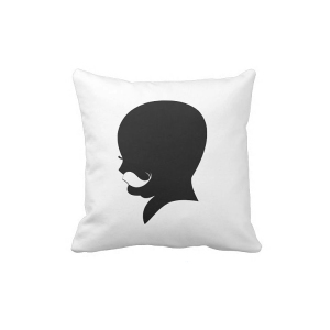 Hipster Dude Shadow Pillow