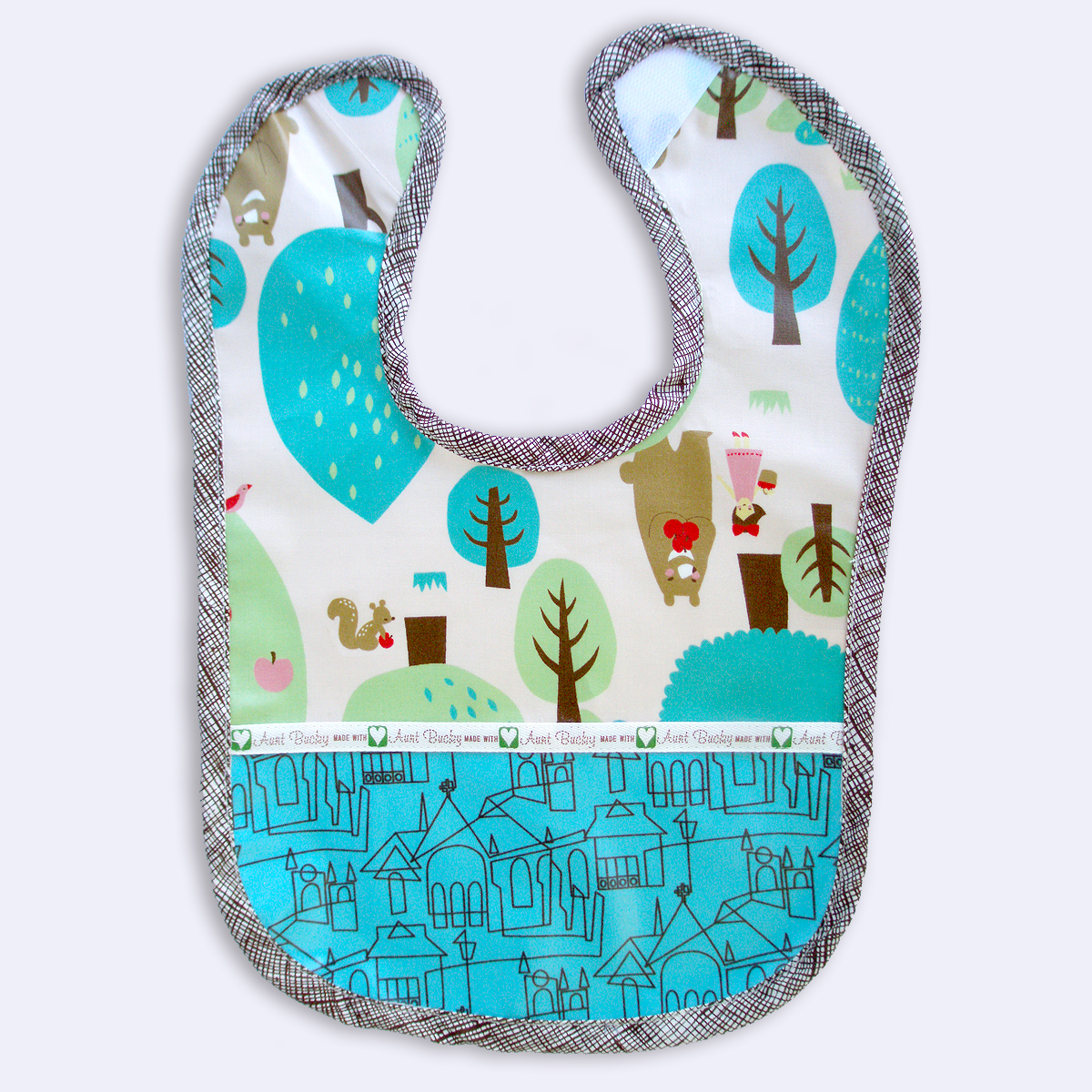 2874169a983ce Chocolate Forest Waterproof Baby Toddler Bib