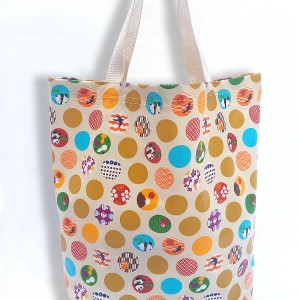 Panda Dots Laminated Tote Bag