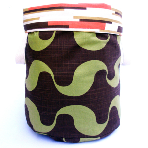 Chocolate Reversible Storage Bin