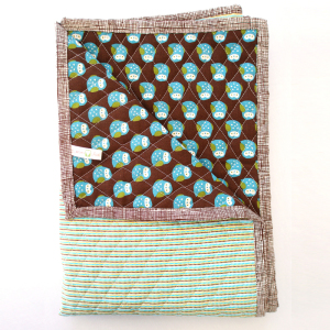 Little Nature Lover Reversible Quilted Blanket