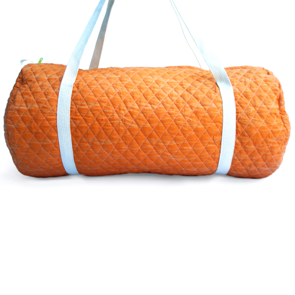 Wood Quilted Duffle Bag