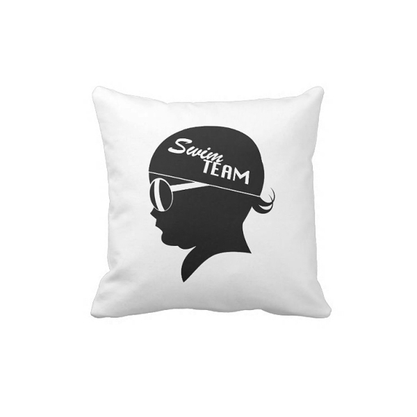 Swimmer Baby Shadow Pillow