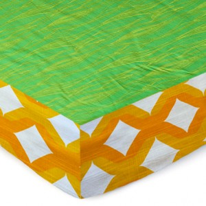 Moss Bark Green Complete Crib Sheet